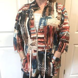 Onque casual 1X zippered sporty blazer